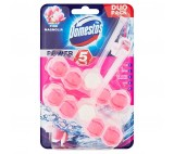 Domestos Power 5 Pink Magnoliam WC Block 2 x 55g