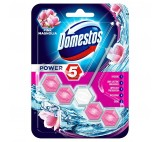 Domestos Power 5 Pink Magnolia Toilet Rim Block 55g