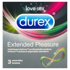 Durex Extended Pleasure Scented Condoms with Lubricant for Longer Lasting Pleasure 3 pcs