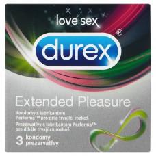 Durex Extended Pleasure Scented Condoms with Lubricant for Longer Lasting Pleasure 3 pcs