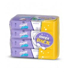 Happy Sensitive Wet Wipes with Aloe Vera 4 x 56 pcs