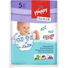 Happy Lunch Disposable Bibs á 5 pcs