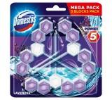 Domestos Power 5 Lavender Toilet Rim Block 3 x 55g