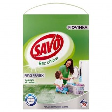 Savo Without Chlorine Universal Washing Powder for Colour and White Laundry 70 Washes