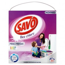 Savo Without Chlorine Color Washing Powder for Colour Laundry 50 Washes