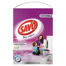 Savo Without Chlorine Color Washing Powder for Colour Laundry 70 Washes