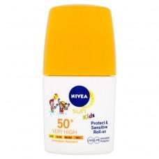 Nivea Sun Protect & Sensitive Kids Sun Lotion Roll-On SPF 50+ 50 ml