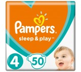 Pampers Sleep&Play V4, 50 Diapers, 9–14 kg