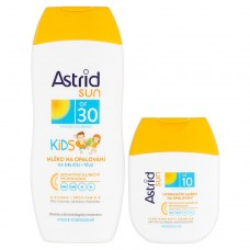 Astrid Sun Kids Sunbathing Lotion SPF 30 200ml + Moisturizing Sun Lotion SPF 10 80ml