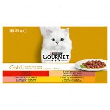 GOURMET Gold Multipack Bits in Juice 4 x 85g