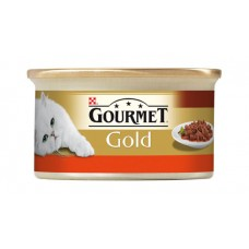 GOURMET Gold with Beef and Chicken in Sauce with Tomatoes 85g