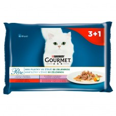 GOURMET Perle Multipack - Mini Fillet in Vegetable Juice with 4 x 85g