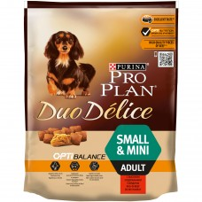 PRO PLAN Duo Délice Small Adult Complete Pet Food for Adult Dogs with Beef and Rice 700 g