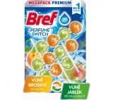 Bref Perfume Switch Floral Juicy Peach Sweet Apple Toilet Rim Block 3 x 50g
