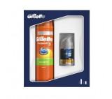 Gillette Fusion5 Sensitive Shaving Gel + Aftershave Balm Gift Set