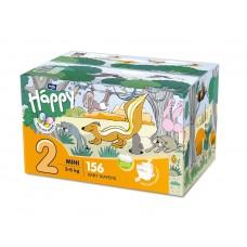 Bella Baby Happy 2 Mini 3-6 kg Diapers 156 Pieces