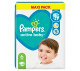 Pampers Active Baby Size 6, 44 Nappies, 13-18kg