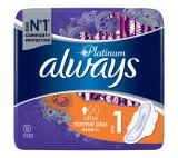Always Platinum Normal hygienické vložky s křidélky