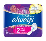 Always Platinum Sanitary Towels Wings Ultra Long Plus (Size 2)  7 Pads