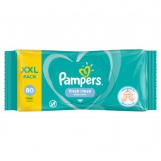 Pampers Fresh Clean Baby Wipes 1 Packs = 80 Wipes