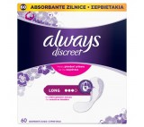 Always Discreet Incontinence Liners Long, 60 Liners