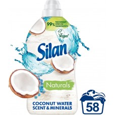 Silan Aromatherapy+ Coconut Water Scent & Minerals Fabric Conditioner 1450 ml (58 Washes)