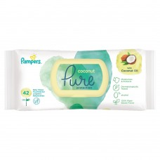 Pampers Coconut Pure Baby Wipes 1 Packs = 42 Wipes
