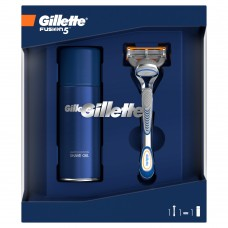 Gillette Gift Set Fusion5 Razor + Sensitive Shaving Gel