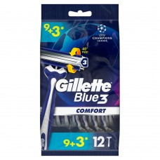 Gillette Blue3 Comfort Men's Disposable Razors 9+3