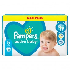 Pampers Active Baby Nappies Size 5 X50, 11kg-16kg