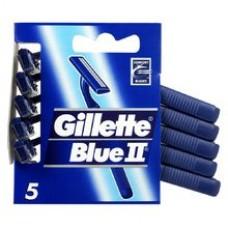 Gillette Blue II Chromium Men's Disposable Razors – 5 Pack