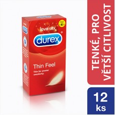 Durex Feel Thin Condoms For Greater Sensitivity 12 pcs