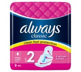 Always Classic Long Sanitary Towels Wings 9x