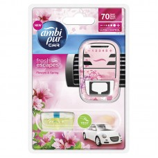 Ambi Pur Car Air Freshener Starter Kit Flowers & Spring 7ml