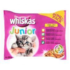 Whiskas Junior Meat Menu in Juice 4 x 100g