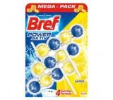Bref Power Activ Fragrance Boost Lemon Stiff Toilet Block 3 x 50g