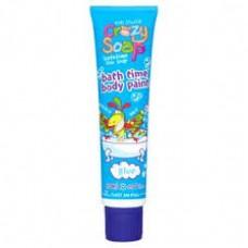 Crazy Soap Body Paint Blue - zábavný sprchový gel do koupele