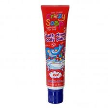 Crazy Soap Body Paint Red - zábavný sprchový gel do koupele