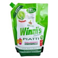Winni's Piatti hypoalergenní mycí prostředek na nádobí s vůní limetky