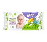 Happy Silk & Cotton Wet Wipes 64 pcs