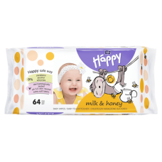 Bella Baby Happy Milk & Honey Wet Wipes 64 pcs
