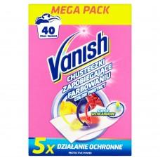 Vanish Color Protect Laundry Napkins 40 Washing 20 pcs